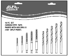 Alfa Tools HSD51076A 15//64 1//4 Hex Shank Drill with 135/° Split Point 12 Pack