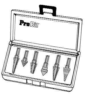Alfa Tools MB52505TN TiN Coated Style E High-Speed Steel Probit Cone Drill and 2 Flutes