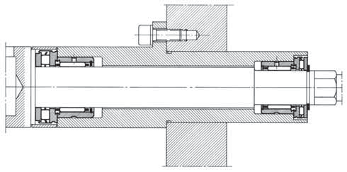 COMBINED BEARING WITH INCORPORATED THRUST PLATE RAXPZ 425