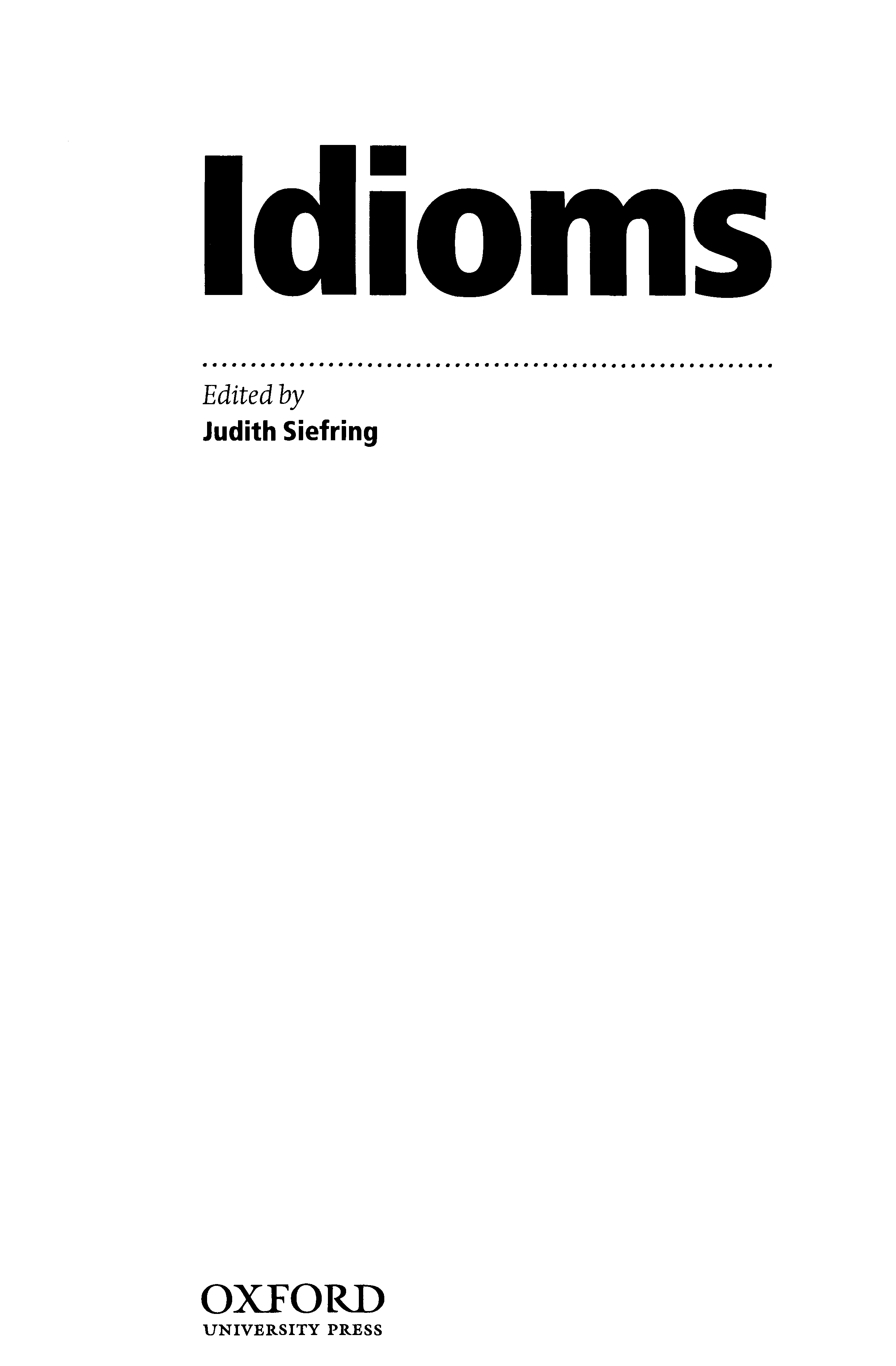 The Oxford Dictionary of Idioms - PDF