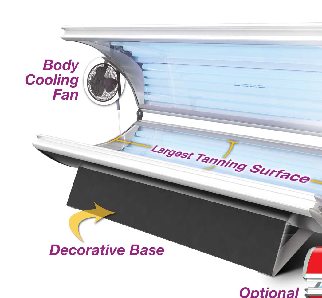 Home Tanning, Priced Right! 32 DELUXE Bed Dimensions: 81 L x 36 W
