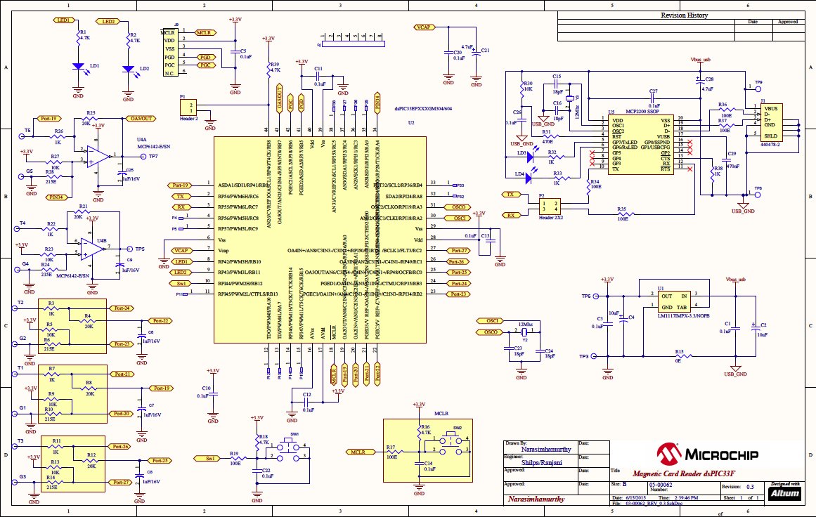 Microchip User Guide Card Reader Demo Pdf Swipe Wiring Diagram I Appendix A For Dspic Solution Schematic Of The