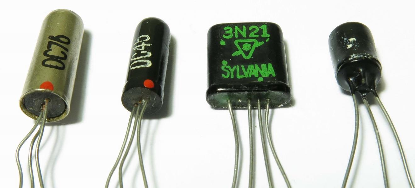 Historic 1950s Germanium Computer Transistors Pdf The Transistor In A Century Of Electronics Junction Left To Right Oc76 Oc45 Amperex 3n21 Sylvania