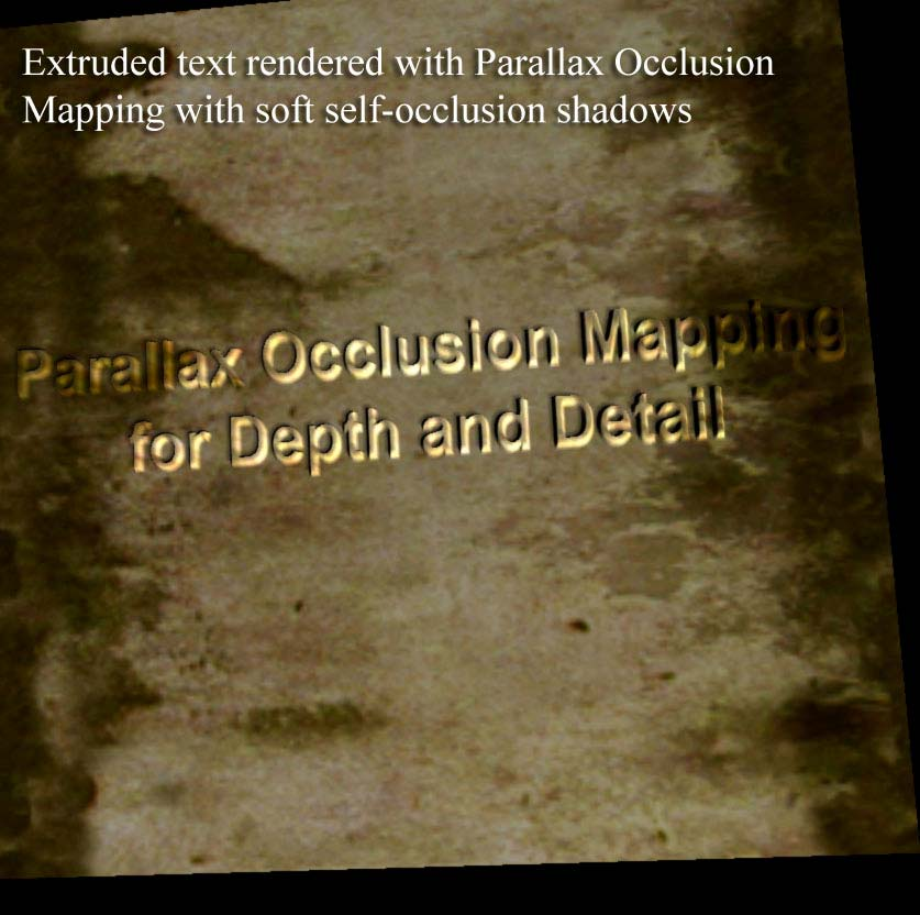 Dynamic Parallax Occlusion Mapping with Approximate Soft