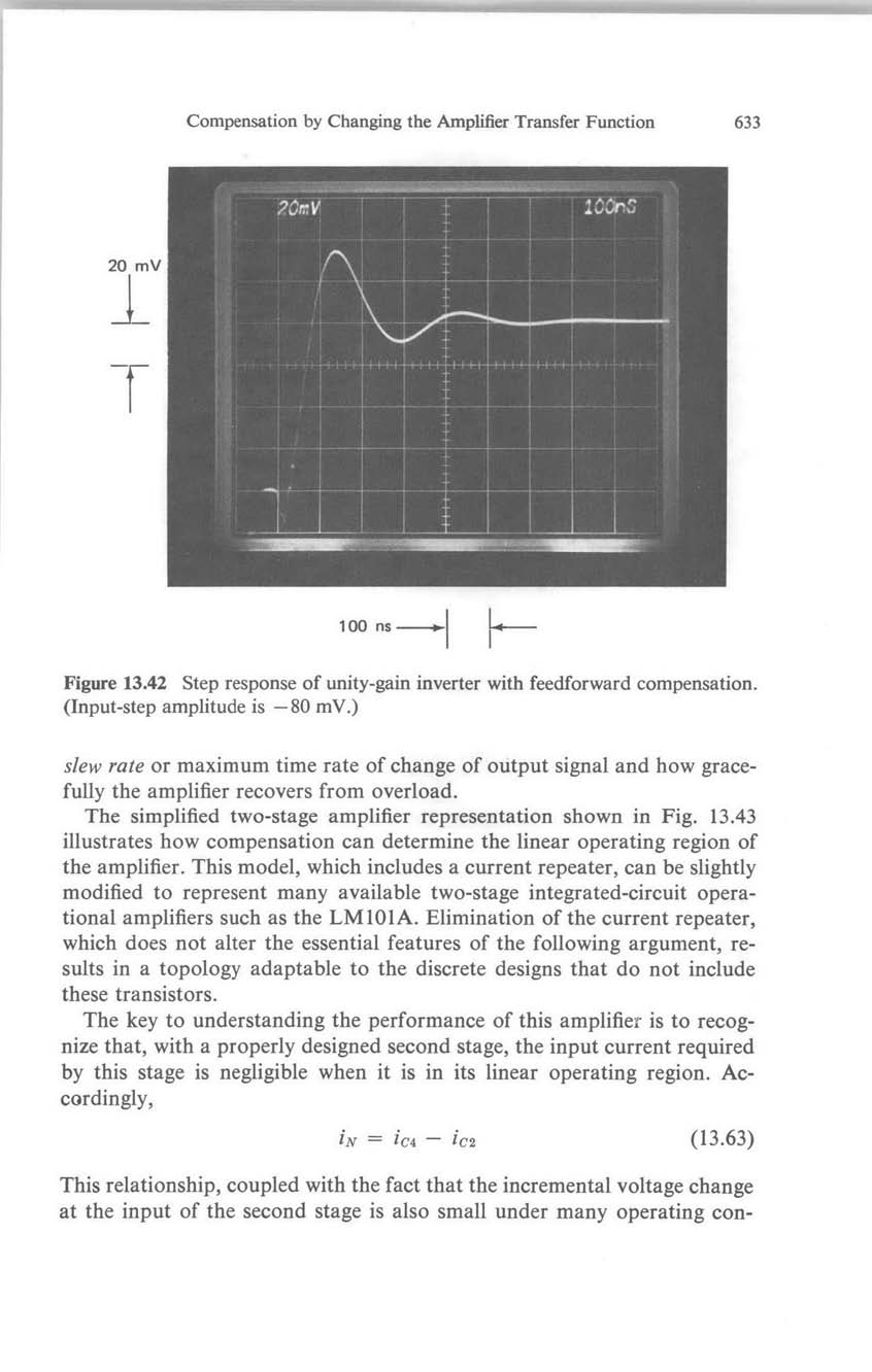 Compensation Revisited Pdf This Signal In Your Inverter Circuit For Transferring Between Outputs By Changing The Amplifier Transfer Function 633 20 Mv 100 Ns Figure 1342 Step Response
