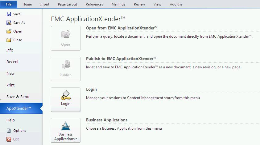 EMC ApplicationXtender for Microsoft Office - PDF