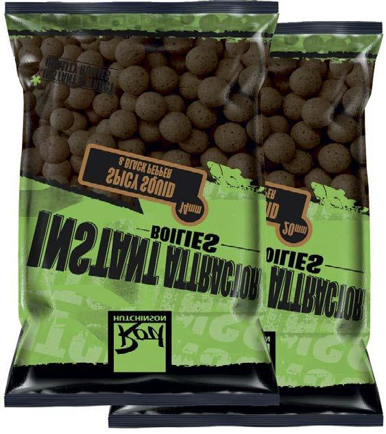 SQUID /& OCTOPUS PRE-DRILLED HALIBUT PELLETS HIGHLY FLAVOURED 8MM BLACK 80G