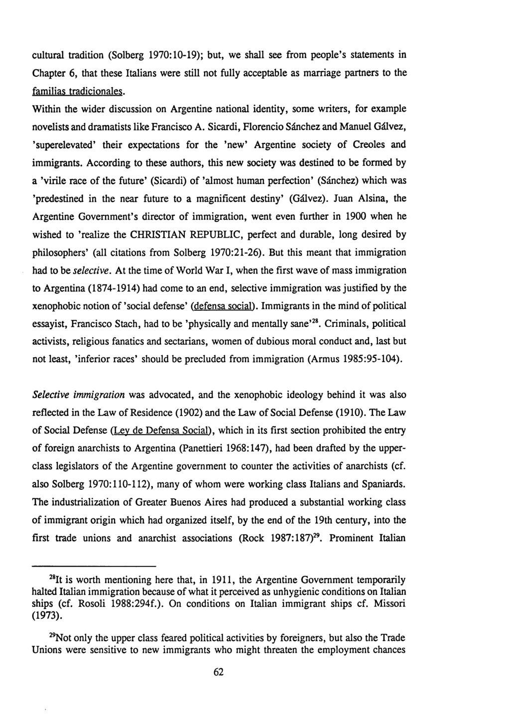 ITALIAN IMMIGRANTS IN CONTEMPORARY BUENOS AIRES: THEIR RESPONSES TO
