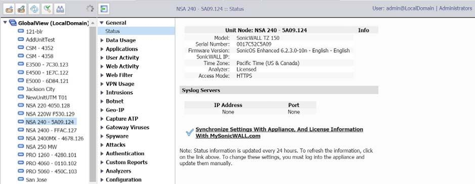 Dell SonicWALL Analyzer 8 2  Administration Guide - PDF