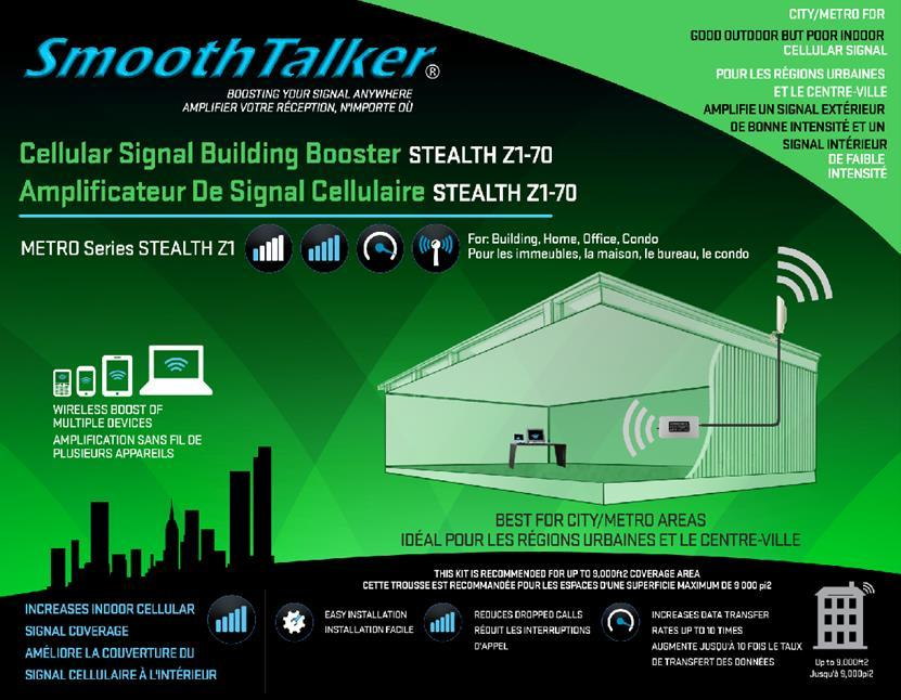 Mobile Cellular Signal Booster Kits with Cradle  Trousse d