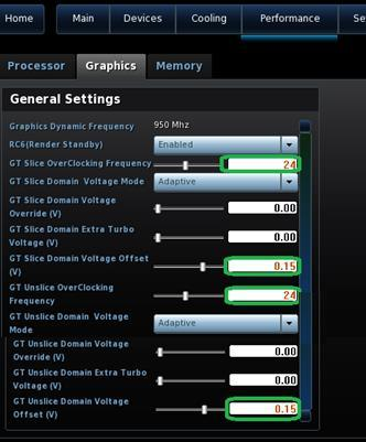 Overclocking Assistant (Performance Tuning Guide) for Intel NUC Kit