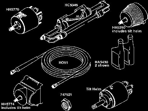 Controls, Steering & Accessories 613  Order numbers that are