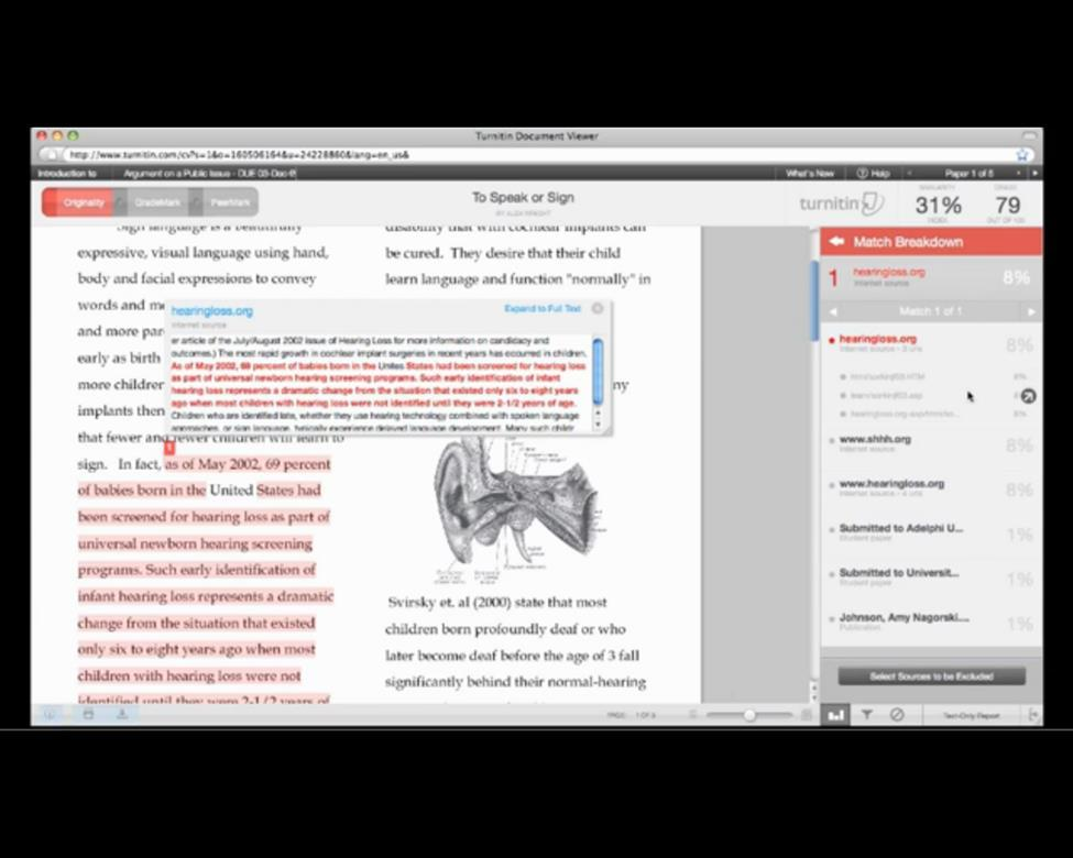 Turnitin: A Useful Tool For Student Revisions - PDF