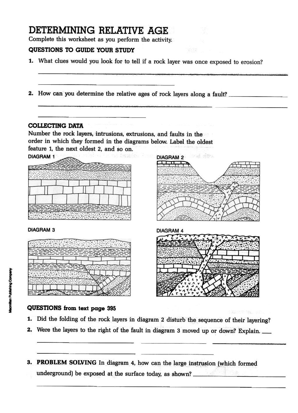 Earth Science. Historical Geology Classwork Journal - PDF ...