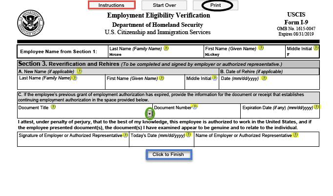 I-9 Process  Acceptable Documents for I-9  I-9 Examples