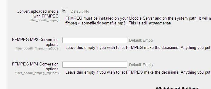 PoodLL can be configured to use ffmpeg on the Moodle server