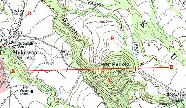 Topographic Map Of Maui.Isoline Maps And Rainfall Pdf