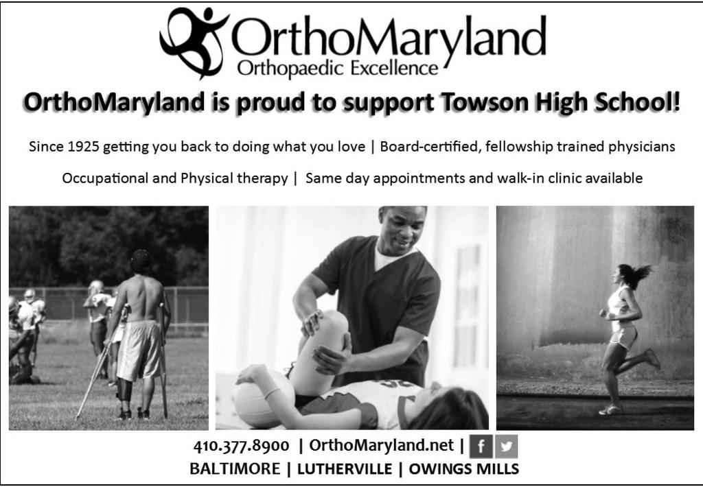 TOWSON HIGH SCHOOL SPORTS BOOSTERS Spring Gala March 28, 2015, 7:00PM-