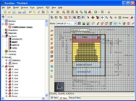 The use of PyroSim graphical user interface for FDS