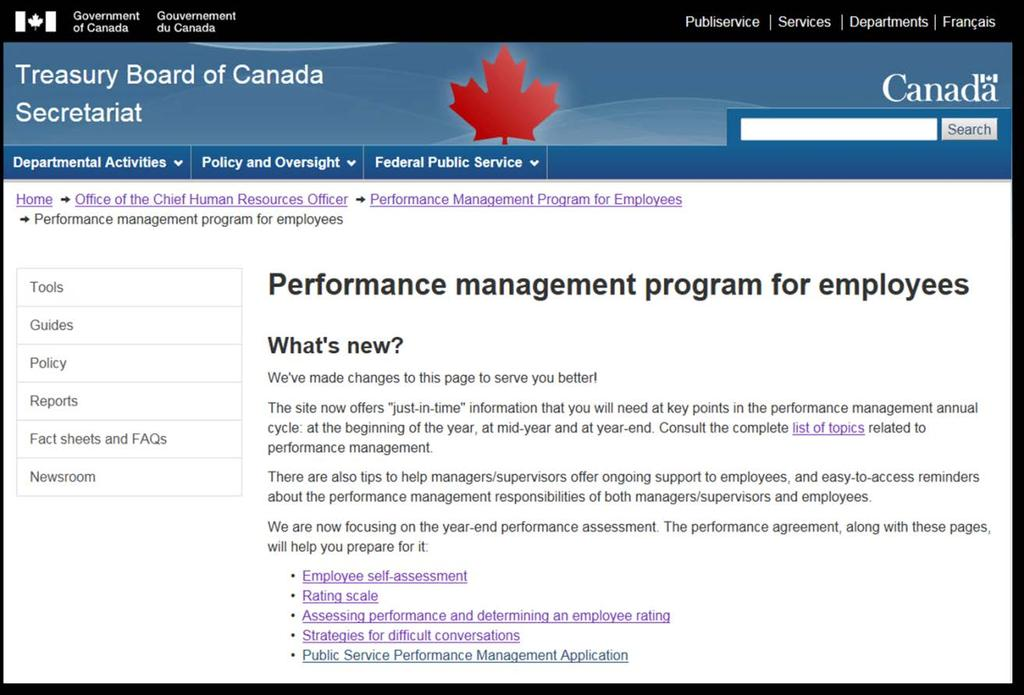Public Service Performance Management Application User Guide For