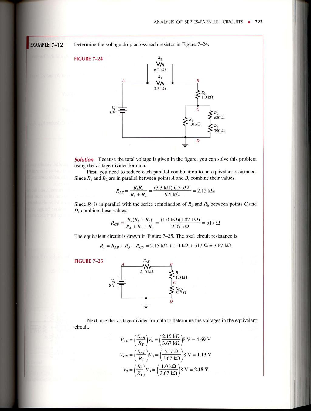 Seriesparallel Circuits Pdf Voltage Divider Network To Solve For Any Varaible In The Analysis Of Series Parallel A 223 Determine Drop Across Each Resistor