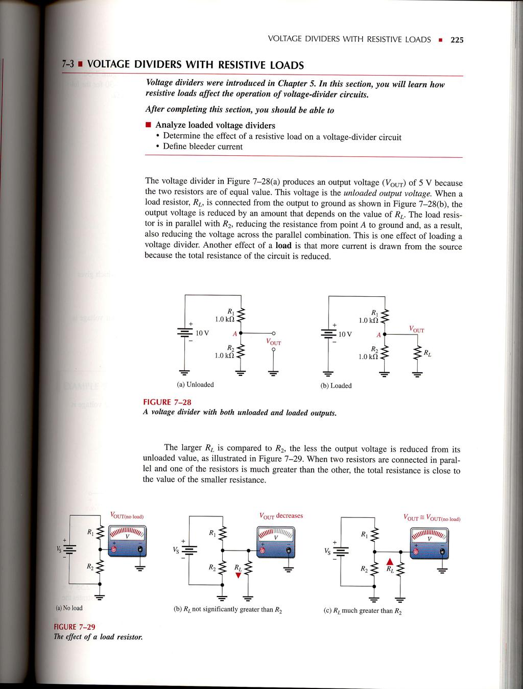 Seriesparallel Circuits Pdf Voltage Divider Network To Solve For Any Varaible In The I Voitage Dividers With Resistive Loads Voltace Resist Ve 225 Divi