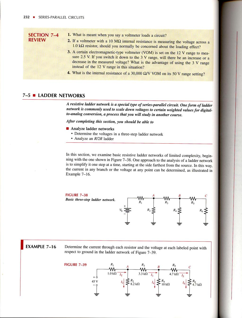 Seriesparallel Circuits Pdf Stage 1 The Digital To Analog Converter R 2r Network 232 Series Parallel Ctrcutts Sectton 7 4 Review L What Is Meanl