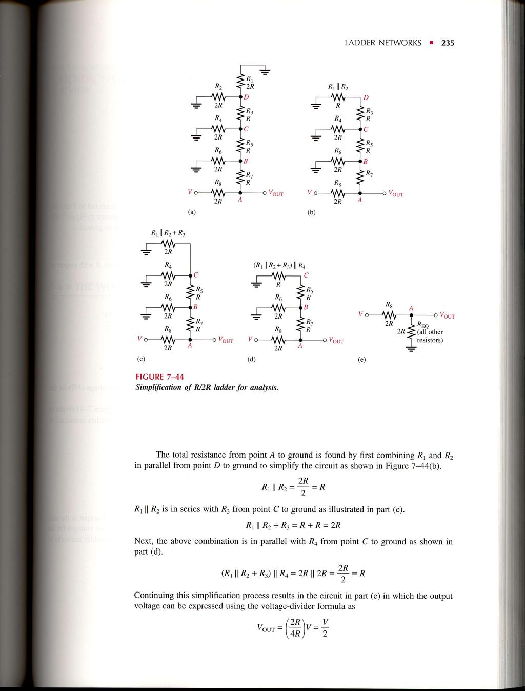 Seriesparallel Circuits Pdf Voltage Divider Is A Circuit That Produces An Output Ladder Networks 235 R2 Zk Rt 2r R6rl D I