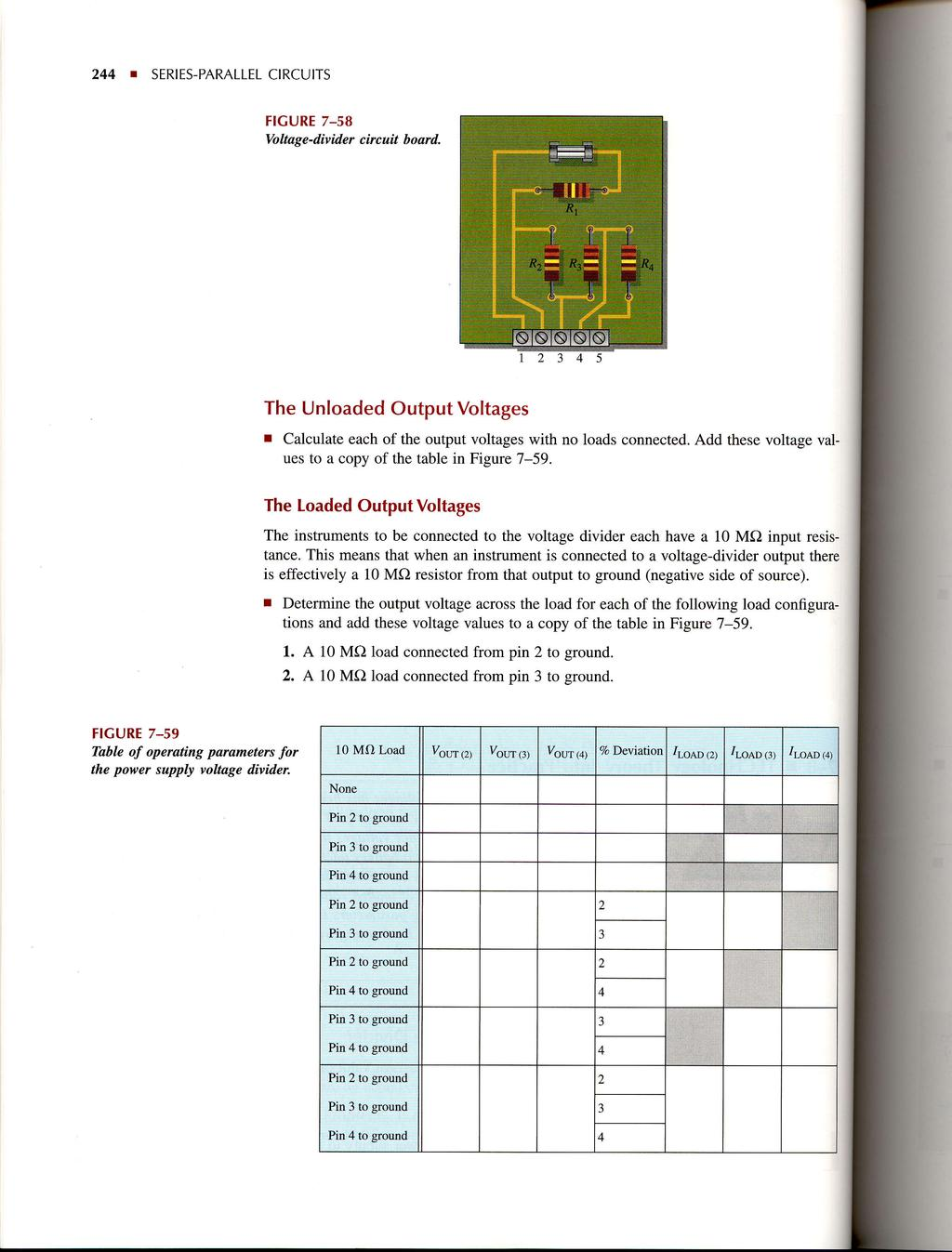 Seriesparallel Circuits Pdf Voltage In A Parallel Circuit 244 T Series Figure 7 58 Vo Ltag E D