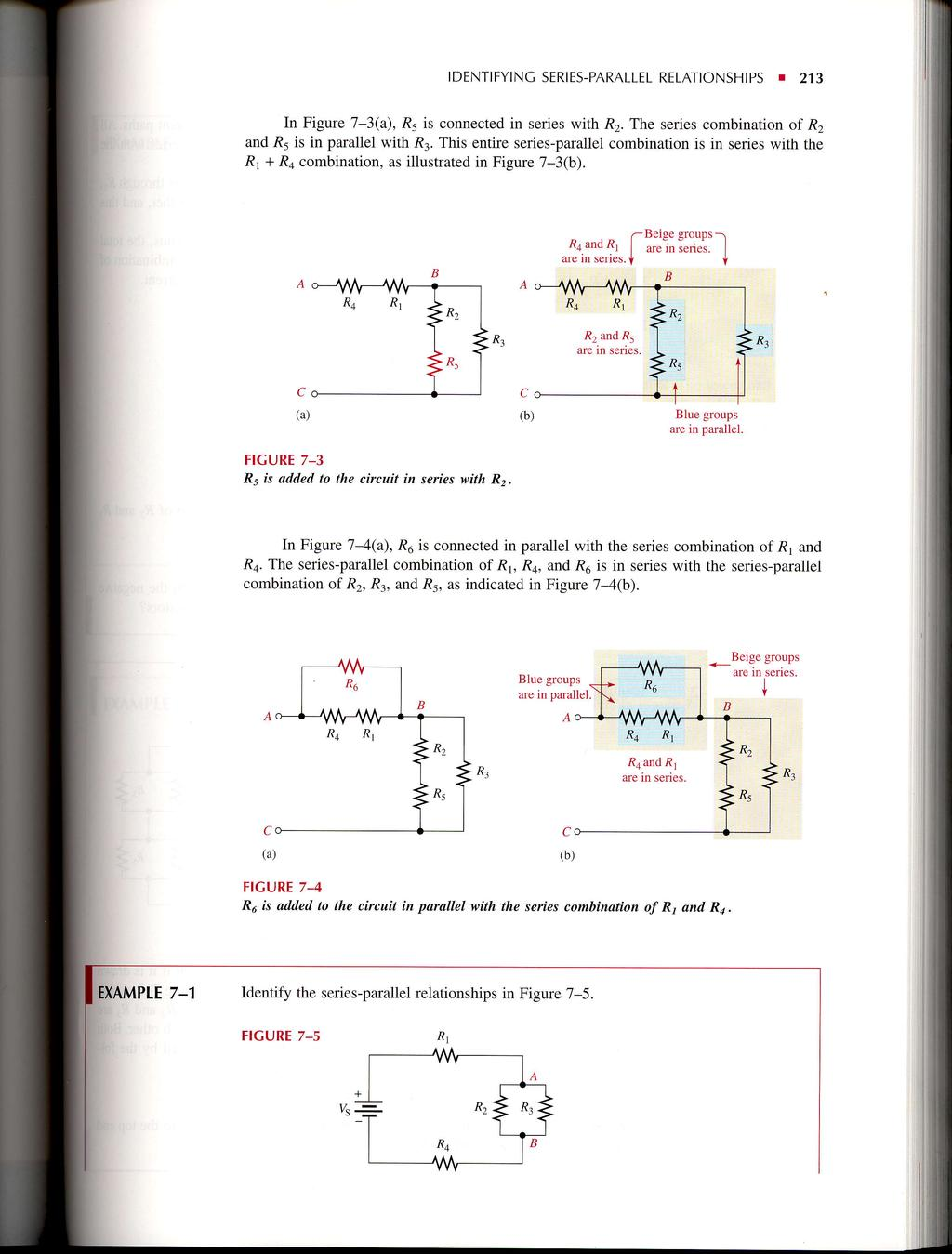 Seriesparallel Circuits Pdf Series Circuit Examples Real Life Added To The Identifyinc Parallel Relationships 213 In Figure 7 3a