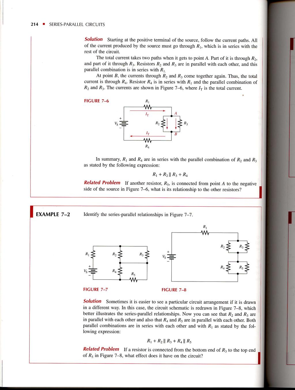 Seriesparallel Circuits Pdf Parallel Circuit Simplest Physics Ever 214 I Series Solution Starting At The Positive Terminal Of Source