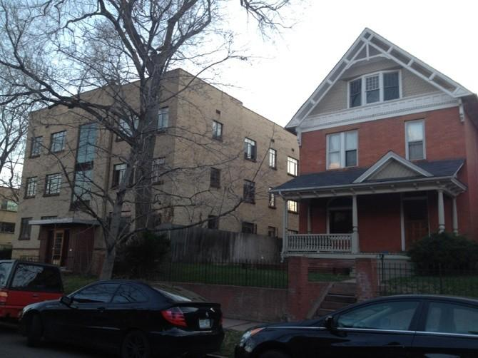 Figure 7. Streetscape of multi-family housing on the 1200 block of Emerson  Street