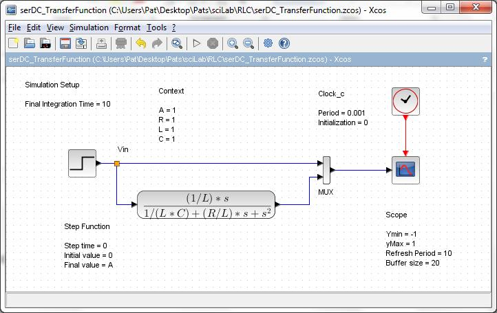 RLC Circuits SciLab Examples  Here are some examples of RLC