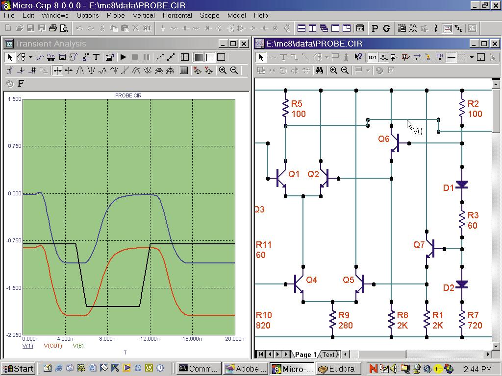 Micro Cap 8 Analog Digital Simulator Taking Simulation To A New Relaxation Oscillator Using Ujt555 Timeropamp Short Distance Matching And Binning Are Provided For Advanced Modeling