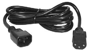 UNSHIELDED 15 FOOT 3-CONDUCTOR DETACHABLE POWER CORD 290B//386A PLUGS