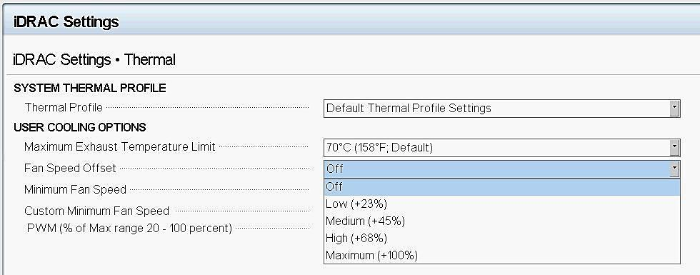 Cooling Options for Thermal Control in Dell PowerEdge