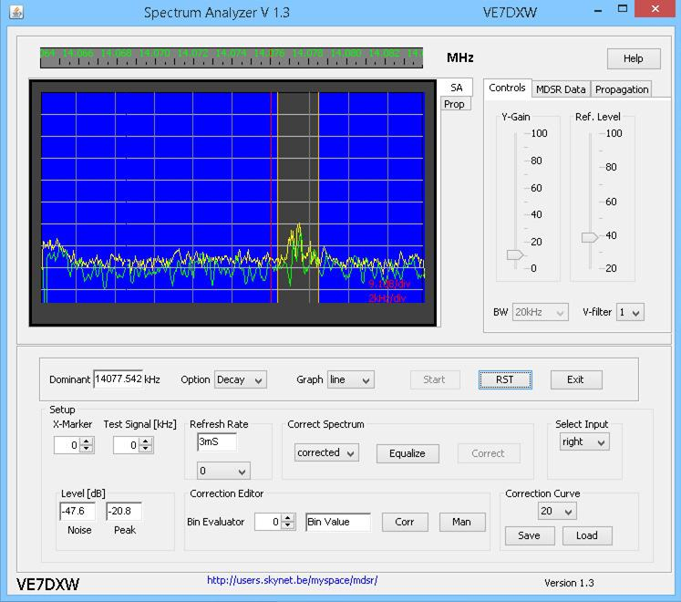 MDSR Spectrum Analyzer V1 3 for Windows, Ubuntu (Linux) and
