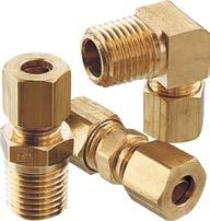 0.62 Tube Well 5//16 Compression Tube x 5//16 Compression Tube Parker Hannifin 63PT-5-62 Brass Insert Compress-Align Fitting