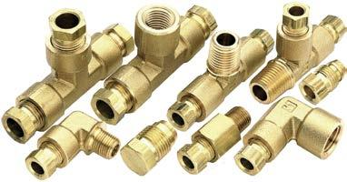 Hi-Duty Compression and Male Pipe Branch Tee Tube to Pipe Parker 172HD-4-4 Flareless Tube Fitting Brass 1//4 1//4
