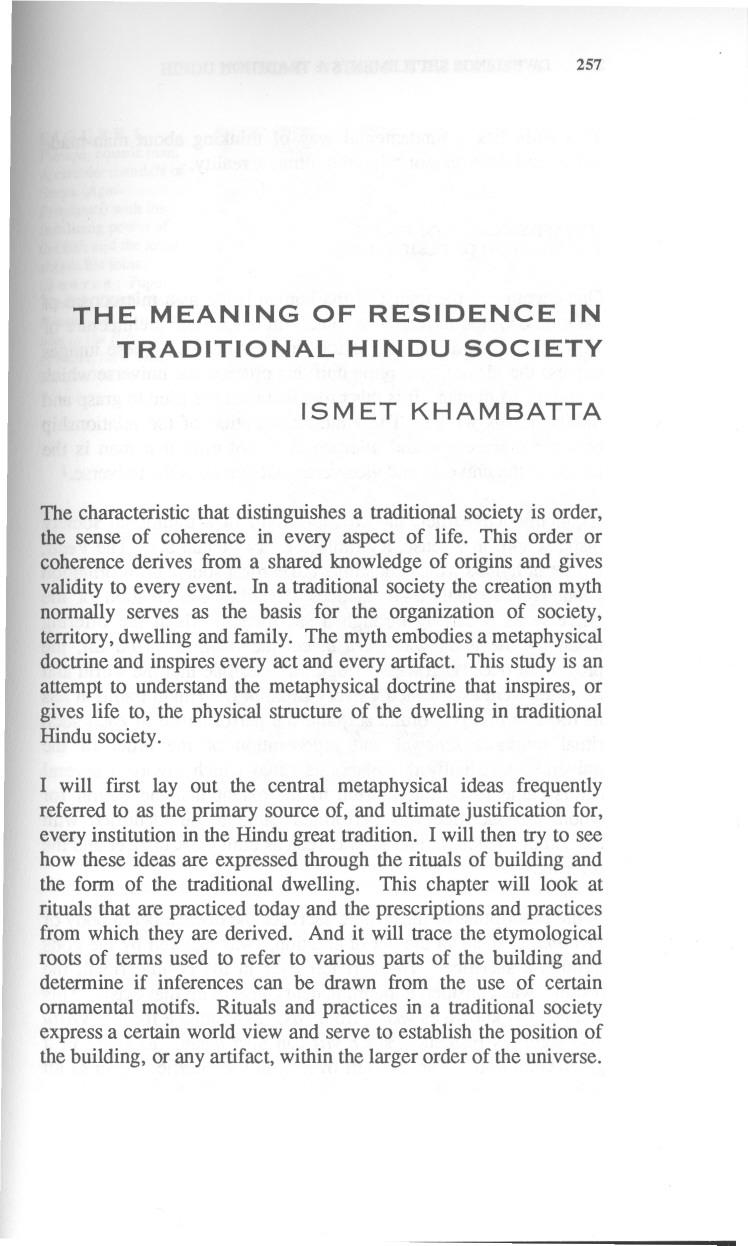 meaning of traditional society