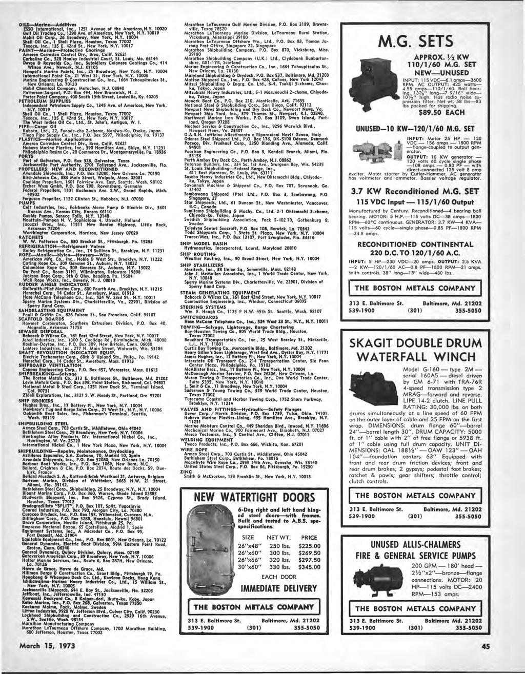 Maritime Reporter Engineering Wtte Hi Pdf Circuit Tester 80500 Volts Ac Dc Oils Marine Additives Esso International Inc 1251 Avenue Of The Americas Ny