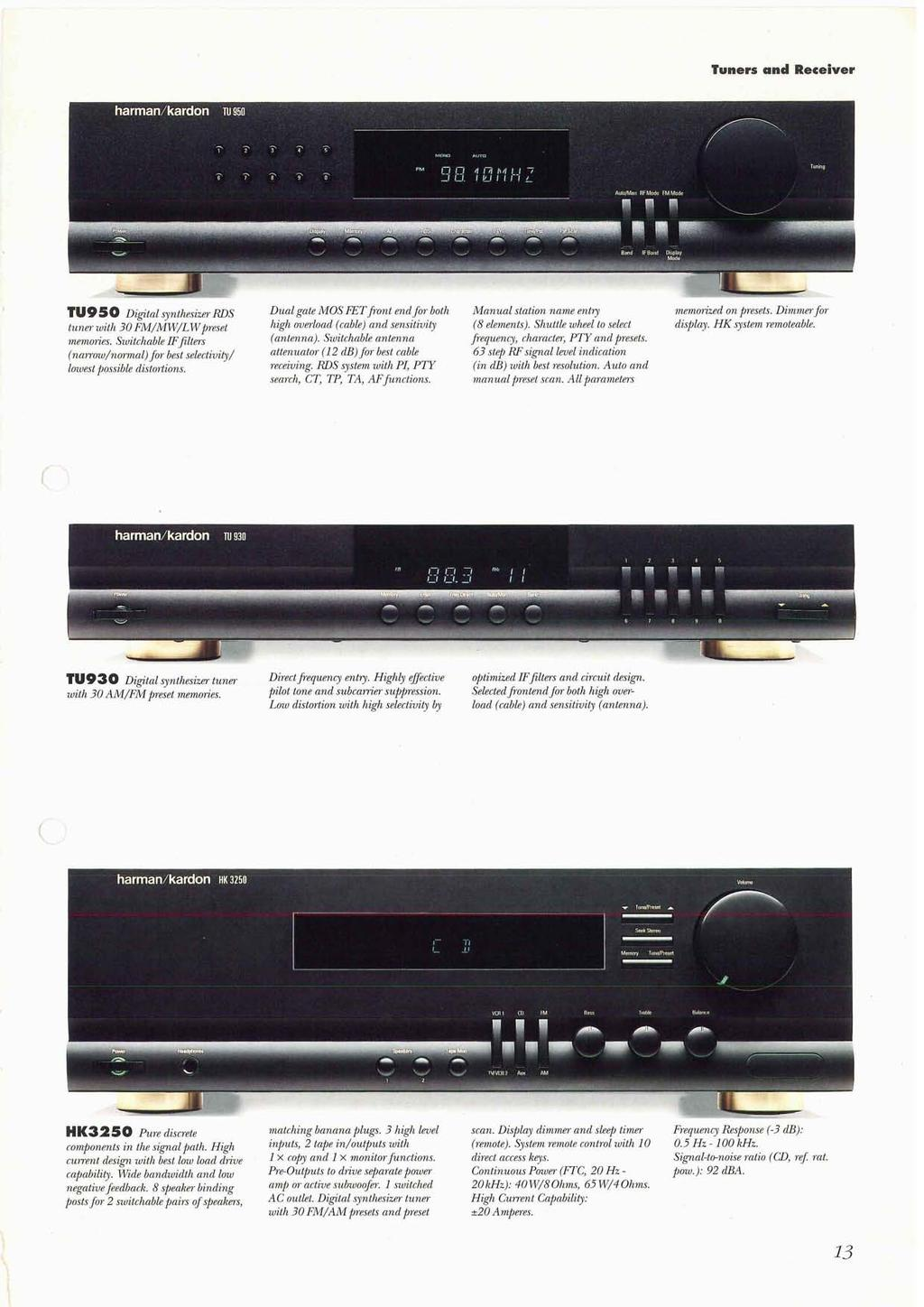 Audio Video Receivers 4 Amplifiers 6 Stereo 8 Compact Fm Antenna Booster Circuit P Marian Tuners And Receiver Tu950 Digital Synthesizer Rds Tuner With 30 Mw Lwpreset Memories