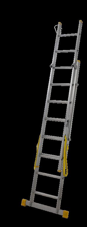 Lyte 2.5 m Triple DIY EN131 Non Professional 3 Section Extension Ladder with Spreader bar