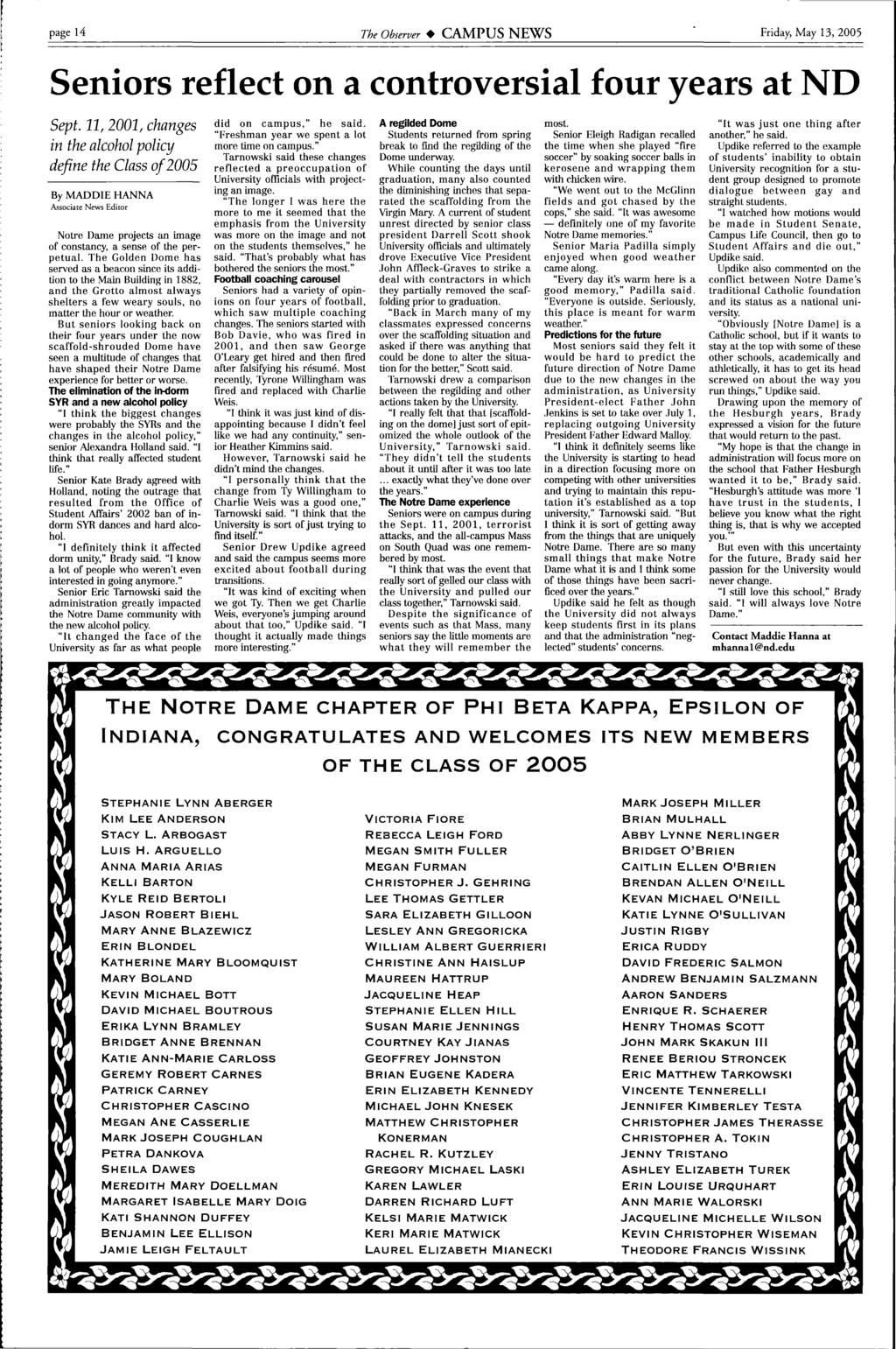 Rectors leave ND  Transition at the top SEE STORY PAGE 16