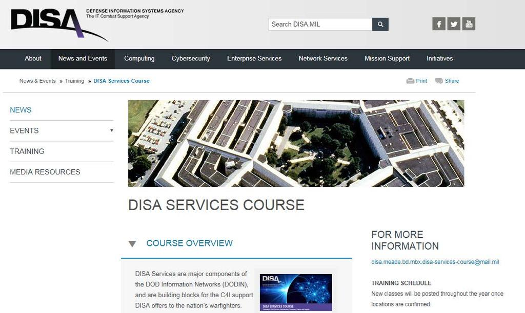 DISA Services Course Executive Overview AFCEA - PDF