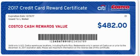 TOP CREDIT CARD REWARD CERTIFICATE FAQs FOR THE COSTCO ANYWHERE