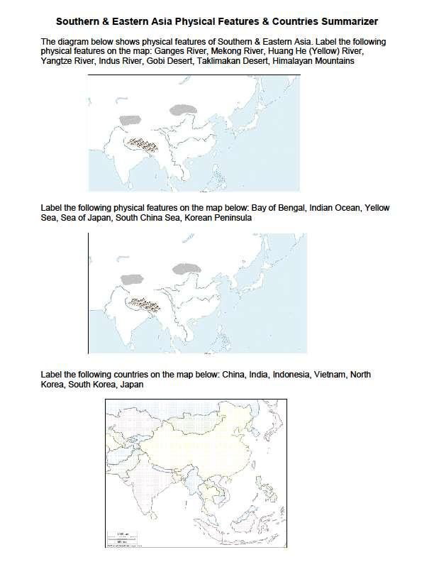 Geography of Southern & Eastern Asia - PDF