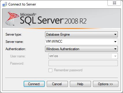Exporting archived data from WinCC using the OLE DB Provider