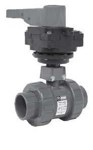 Hayward BYV14040A0EL000 Series BYV Butterfly Valve 4 Size EPDM Seals PVC Body Lever Operated GFPP Disc