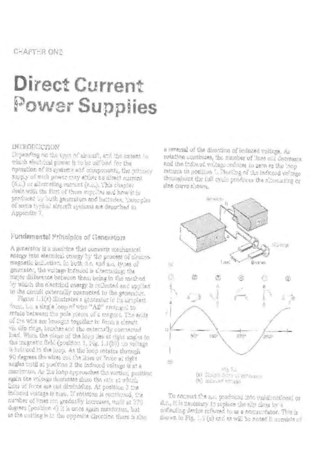 Aircraft Electrical Systems Pdf Depict The Power Source As A Battery But It Is Supply Chapter One Direct Current Supplies Ntroducton Depending On Type Of And
